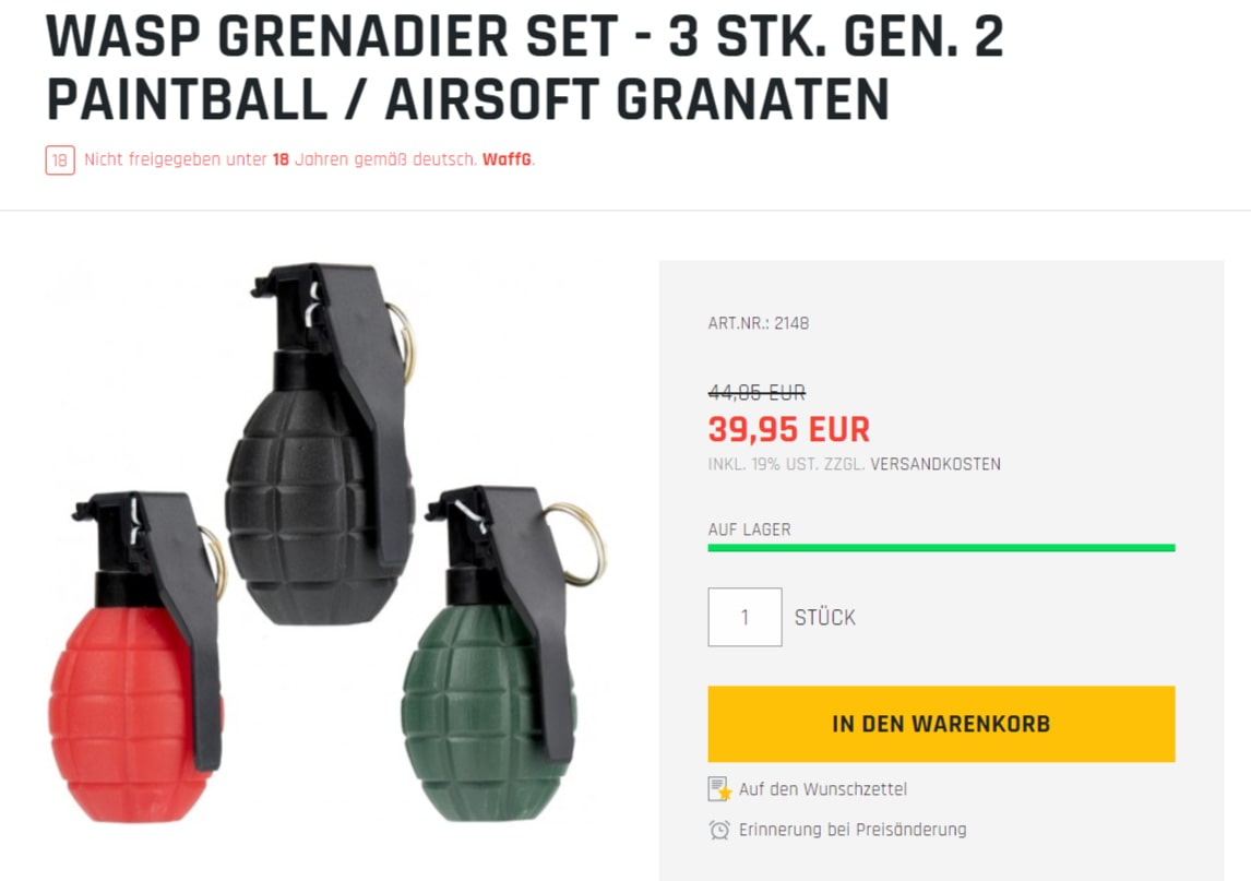 paintball granate kaufen