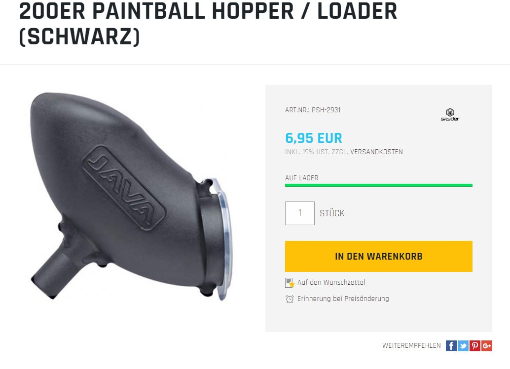 paintball hopper